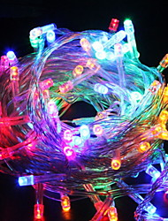 cheap -10m String Lights 100 LEDs Multi Color Decorative 220-240 V 1 set