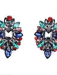 cheap -Women's Black White Multicolor Earrings Geometrical Precious Lucky Artistic Vintage European Earrings Jewelry White / Black / Rainbow For Gift Daily Carnival Street Festival 1 Pair