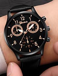 Недорогие -Муж. Нарядные часы Кварцевый Кожа Черный / Коричневый 30 m Защита от влаги Творчество Повседневные часы Аналоговый На каждый день Мода - Белый Черный Коричневый Один год Срок службы батареи