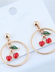 cheap -Women's Drop Earrings Earrings Cherry Simple Sweet Fashion Cute Earrings Jewelry Gold For Daily Holiday Work 1 Pair