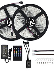 cheap -10M LED Strip Lights RGB Tiktok Lights Music Sync 5050 Sound Activated LED Strip Lights 600 LEDs Color Changing LED Rope Lights SMD 5050 10mm Tape Light with IR Remote and 12V 6A Power Supply