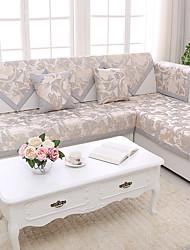 abordables -Coussin de canapé en coton matelassé / motif floral doré & argenté de luxe