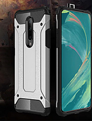 cheap -Case For OnePlus OnePlus 6 / One Plus 6T / One Plus 7 Shockproof Back Cover Solid Colored Hard PC
