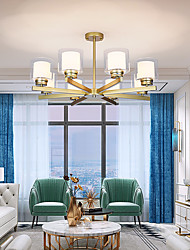 cheap -6-Light 6 Lights Chandelier/ American Style Pendant Light Gold Siliver Black Painted Finishes for Living Room Bedroom 110-120V / 220-240V/E26E27 without Bulb