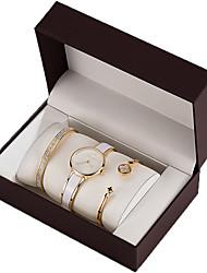 cheap -Women's Bracelet Quartz Watches Simple New Arrival Elegant Black White Stainless Steel Japanese Quartz Rose Gold White Gold Chronograph Cute Creative 30 m 1 set Analog Two Years Battery Life