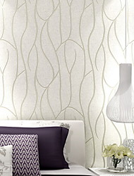 cheap -Wallpaper Nonwoven Wall Covering - Adhesive required Lines / Waves