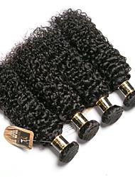 cheap -6 Bundles Brazilian Hair Kinky Curly 100% Remy Hair Weave Bundles 300 g Natural Color Hair Weaves / Hair Bulk Bundle Hair One Pack Solution 8-28 inch Natural Color Human Hair Weaves Odor Free Easy