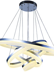 cheap -VALLKIN 4-Light 80 cm Creative / Adjustable / Dimmable Pendant Light Metal Acrylic Circle / Geometrical / Novelty Painted Finishes LED / Modern 110-120V / 220-240V