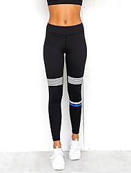 cheap -Women's Yoga Pants Bra Top Solid Color Black / White Nano Silver Gym Workout Bottoms Sport Activewear Soft Micro-elastic Slim