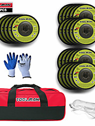 cheap -28PC 4-1/2 in Grit Sanding Flap Disc set+ Safty Goggle + Tool Bag + Glove