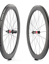 cheap -FARSPORTS 700CC Wheelsets Cycling 23 mm Road Bike Carbon Fiber Clincher 20/24 Spokes 60 mm