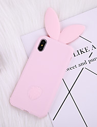 cheap -Case For iPhone 8 Plus Back Case Soft Cover TPU Pink Rabbit Silicone Soft Following Long Ear Soft TPU for iPhone X 7 Plus 7 6 Plus 6 8