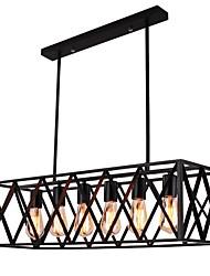 cheap -6-Light 20 cm Designers Flush Mount Lights Metal Painted Finishes Rustic / Lodge / Vintage / Modern Contemporary 110-120V / 220-240V
