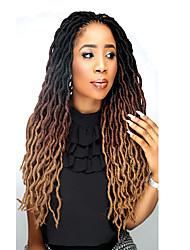 "cheap -Braiding Hair Curly Dreadlocks / Faux Locs Crochet Hair Braids Synthetic Extentions Synthetic Hair 3 Pieces Hair Braids Natural Color 18 inch 18"" Synthetic Dreadlock Extensions Dreads Locs Party"