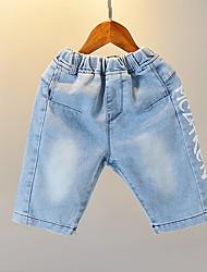 cheap -Kids Boys' Active Basic Solid Colored Print Print Cotton Jeans Blue