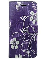 cheap -Case For Apple iPhone X / iPhone XS Card Holder / Flip Full Body Cases Solid Colored / Flower Hard PU Leather for iPhone XS / iPhone X / iPhone 8 Plus