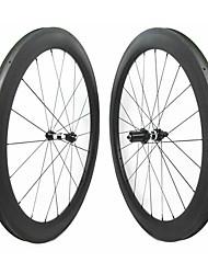cheap -FARSPORTS 700CC Wheelsets Cycling 28 mm Road Bike Carbon Fiber Clincher 20/24 Spokes 58 mm