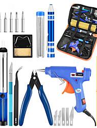 cheap -220V 60W Adjustable Temperature Soldering Iron 20W Glue Gun Combination Welding Repair Tool Set