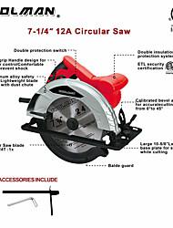 abordables -toolman circulaire scie machine lames 7-1 / 4 24t 48t gant de protection masque de protection gant
