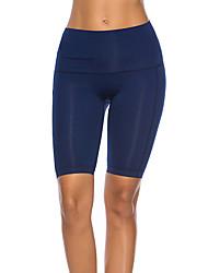 cheap -Women's High Waist Yoga Pants Yoga Shorts Seamless Shorts Bottoms Tummy Control Butt Lift Moisture Wicking Solid Color Black Grey Light Grey Fitness Dance Running Winter Sports Activewear High