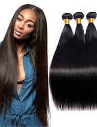 cheap -3 Bundles Malaysian Hair Straight Virgin Human Hair 100% Remy Hair Weave Bundles 300 g Bundle Hair Human Hair Extensions Hair Weft with Closure 8-28 inch Natural Human Hair Weaves Safety Women Best