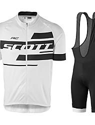 Недорогие -Скотт тур де франция версия джерси костюм летний костюм для верховой езды короткая куртка велосипедный костюм силиконовая подушка дышащий и быстросохнущий велосипедный костюм