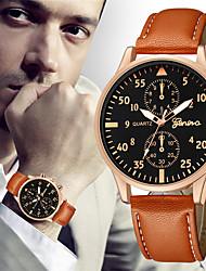 Недорогие -Муж. Нарядные часы Кварцевый Кожа Черный / Коричневый 30 m Творчество Новый дизайн Повседневные часы Аналоговый Классика На каждый день - Коричневый Черный / Белый Белый / Бежевый / Два года