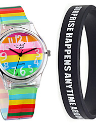 cheap -Women's Quartz Watches New Arrival Colorful Multi-Colored Plastic Chinese Quartz Black Chronograph Cute New Design 1 set Analog One Year Battery Life