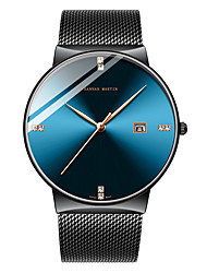 cheap -HANNAH MARTIN Men's Steel Band Watches Japanese Japanese Quartz Stainless Steel Black / Silver 30 m Casual Watch Analog Fashion Colorful - Black / Blue Black / Silver Black / Rose Gold One Year