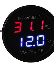 cheap -Car LED Digital Red&Blue Display 2 In 1 Dual Voltmeter Thermometer 12V