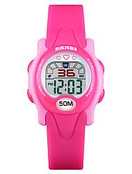 Недорогие -SKMEI®1478 Дети Детские часы Android iOS WIFI Водонепроницаемый Спорт Длительное время ожидания Smart Градиент цвета будильник Календарь С двумя часовыми поясами