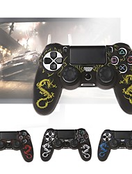 cheap -Suitable for Playstation 4 Gamepad Protection Camouflage Silicone Gel Protective Soft Cover Skin Grip Game Controller Case Protector For PS4