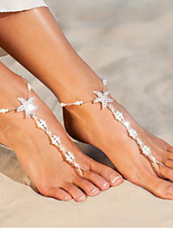 cheap -Barefoot Sandals Cute Women's Body Jewelry For Daily Imitation Pearl Alloy Starfish Shell White 1pc