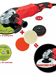 cheap -Toolman 6pcs Angle Grinder 7 12A 6 Variable Speed & Cut-off wheel grind wheel