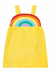 cheap -Baby Girls' Basic Rainbow Sleeveless Dress Yellow / Toddler
