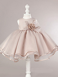 cheap -Kids Girls' Dusty Rose Solid Colored Dress Blushing Pink