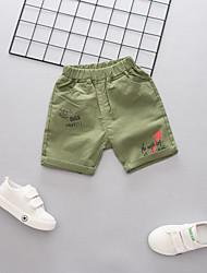 cheap -Kids Boys' Active Basic Print Print Cotton Shorts Army Green