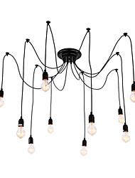 cheap -QINGMING® 10-Light Cluster Chandelier Downlight Painted Finishes Metal LED 110-120V / 220-240V Bulb Included / E26 / E27