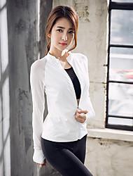 cheap -Women's See Through Front Zipper Track Jacket Running Gym Workout Lightweight Windproof Breathable Sportswear Jacket Long Sleeve Activewear High Elasticity