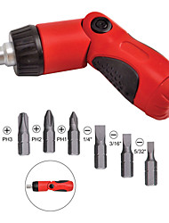 cheap -Adjustable Ratchet Screwdriver 6 pcs for DeWalt SKIL Makita & Ryobi 3 Way
