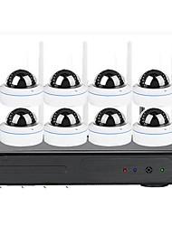 Недорогие -8-полосная 1,3-мегапиксельная видеонаблюдение HD домашний магазин мобильный мониторинг Wi-Fi камера