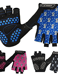 cheap -Bike Gloves / Cycling Gloves Breathable Anti-Shake / Damping Skidproof Wicking Fingerless Gloves Sports Gloves Black Blue Pink for Kids Road Cycling Outdoor Exercise Cycling / Bike