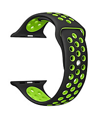 cheap -For Apple iwatch Band strap 42mm 38mm 40mm 44mm two-tone Silicone Strap For iwatch band 4/3/2/1 Creative Double-sided Wristbands