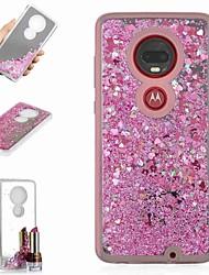 Недорогие -Кейс для Назначение Motorola Moto X4 / Мото G7 / Мото G7 Plus Защита от удара / Движущаяся жидкость / Зеркальная поверхность Кейс на заднюю панель Сияние и блеск / Градиент цвета Твердый ТПУ