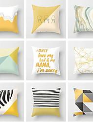 cheap -1 pcs Polyester Pillow Cover, Geometric Geometic Fashion Throw Pillow