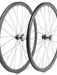cheap -FARSPORTS 700CC Wheelsets Cycling 25 mm Road Bike Carbon Fiber Clincher / Tubeless Compatible 24/24 Spokes 38 mm
