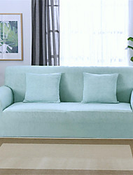 cheap -Light Blue Durable Soft High Stretch Slipcovers Sofa Cover Washable Spandex Couch Covers