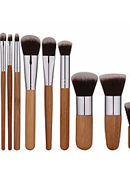 cheap -Professional Makeup Brushes 11pcs Full Coverage Comfy Artificial Fibre Brush Wooden / Bamboo for Makeup Brush