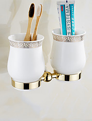 cheap -Toothbrush Holder Creative Brass 1pc - Bathroom Wall Mounted