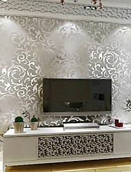 cheap -Wallpaper Plastic & Metal Wall Covering - Adhesive required Metallic